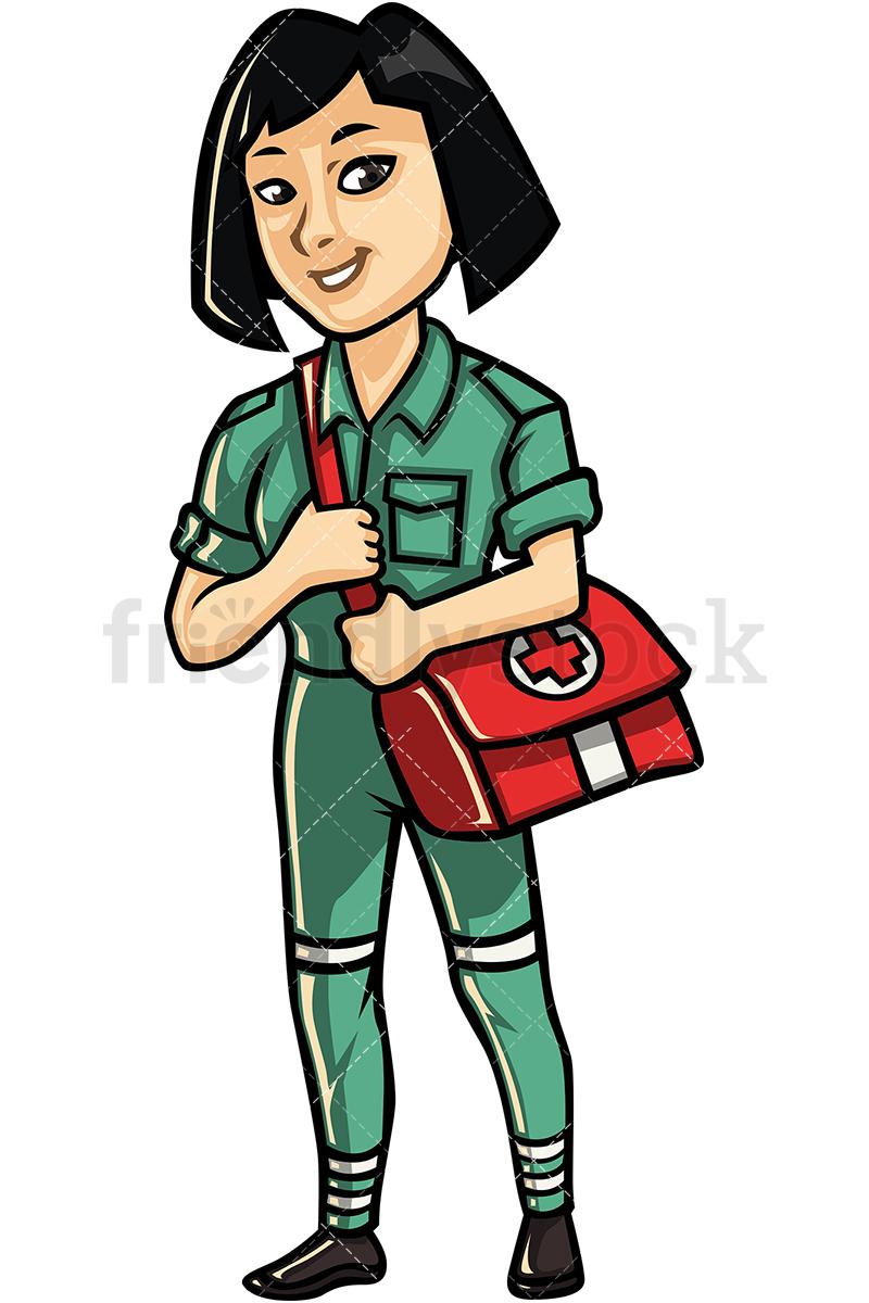 Asian Female Paramedic.
