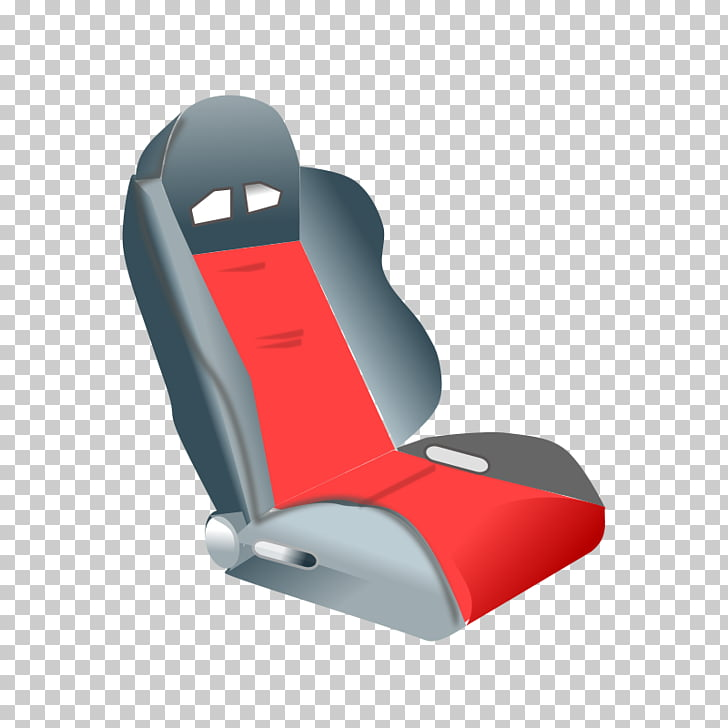 Car Child safety seat , Red cartoon car seat PNG clipart.