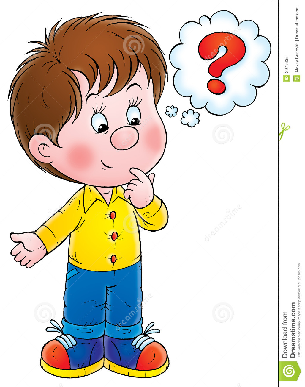 Child Asking Question Clipart.