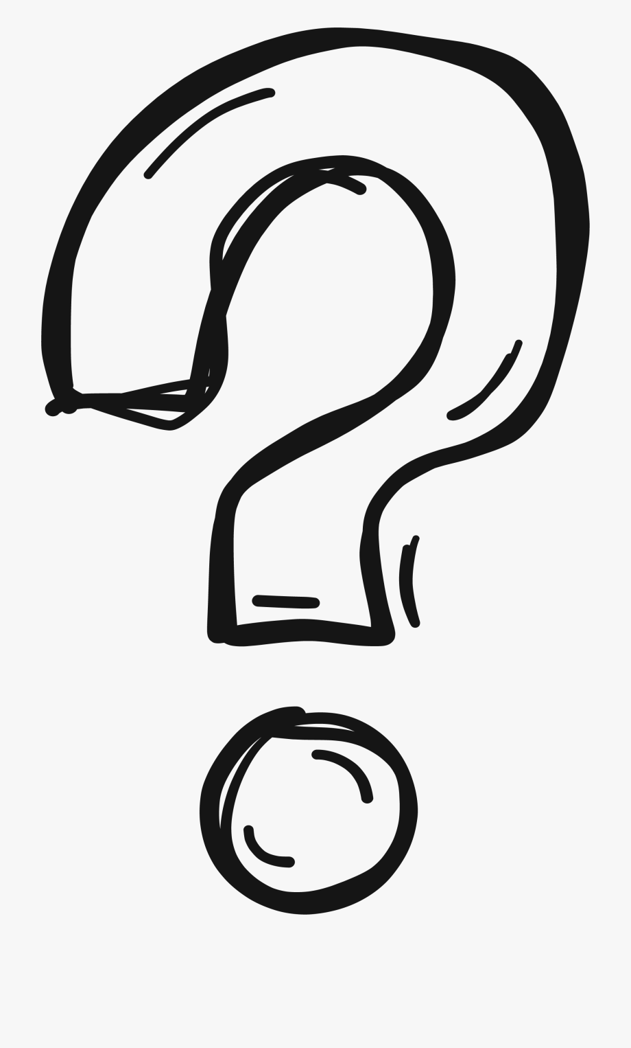 Black And White Question Mark Clipart.