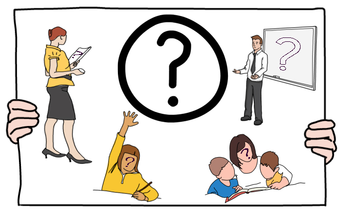 Who is entitled to ask questions in class? {Excerpt from.