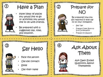 SOCIAL SKILLS TASK CARDS: How To Share A Conversation & Ask A Friend To  Hang Out.