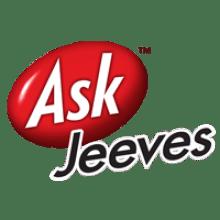 Ask Jeeves logo transparent background.