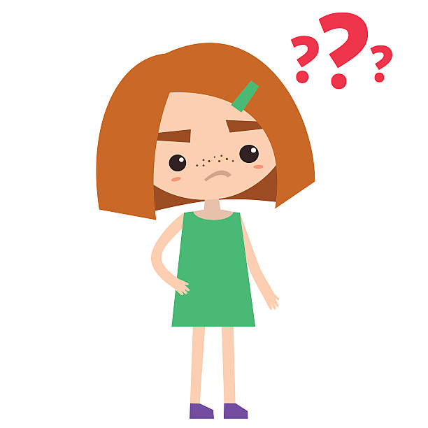 Girl Asking Question Clipart.