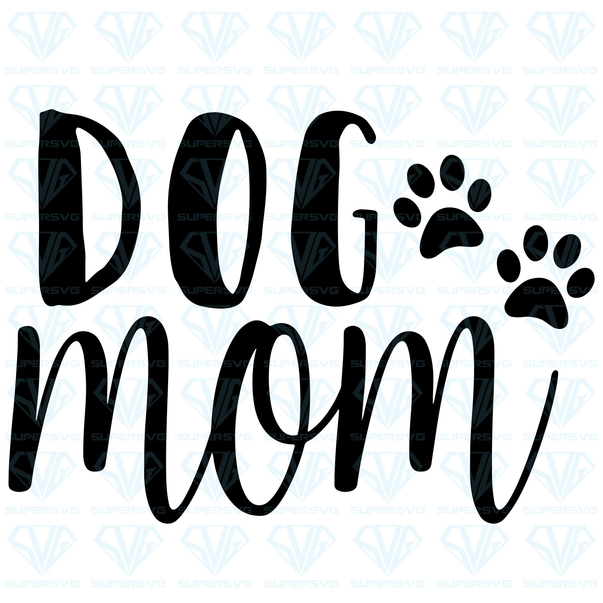 Dog Mom SVG Files For Silhouette, Files For Cricut, SVG, DXF, EPS, PNG  Instant Download.