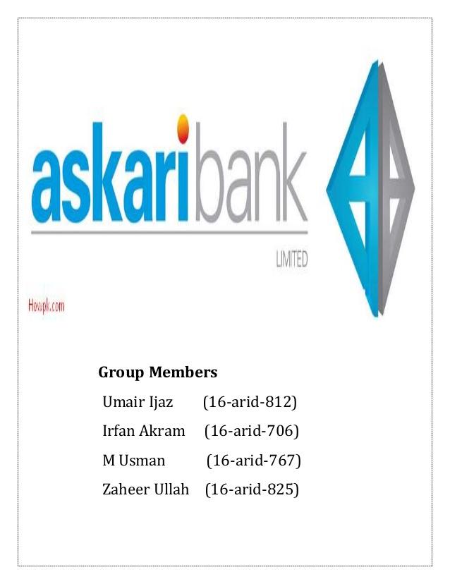 Askari Bank management project.