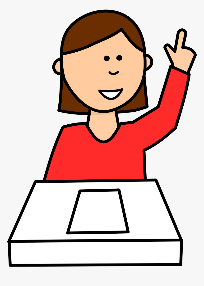 Clip Art Clipart Student Asking Question.