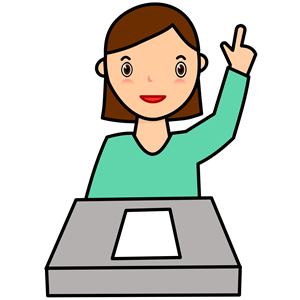 Student Asking a Question Colour clipart, cliparts of.