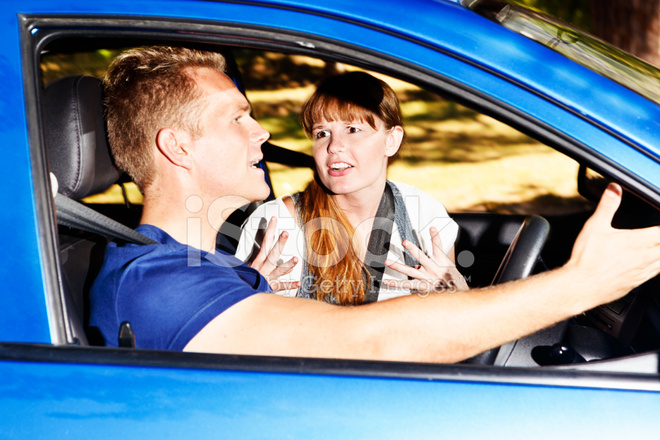 Why Can\'t You Ask for Directions? Arguing Couple IN Car.