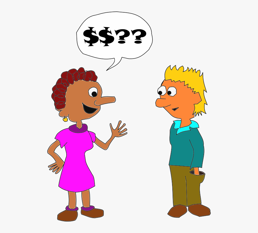 Person Asking For Money Cartoon , Free Transparent Clipart.