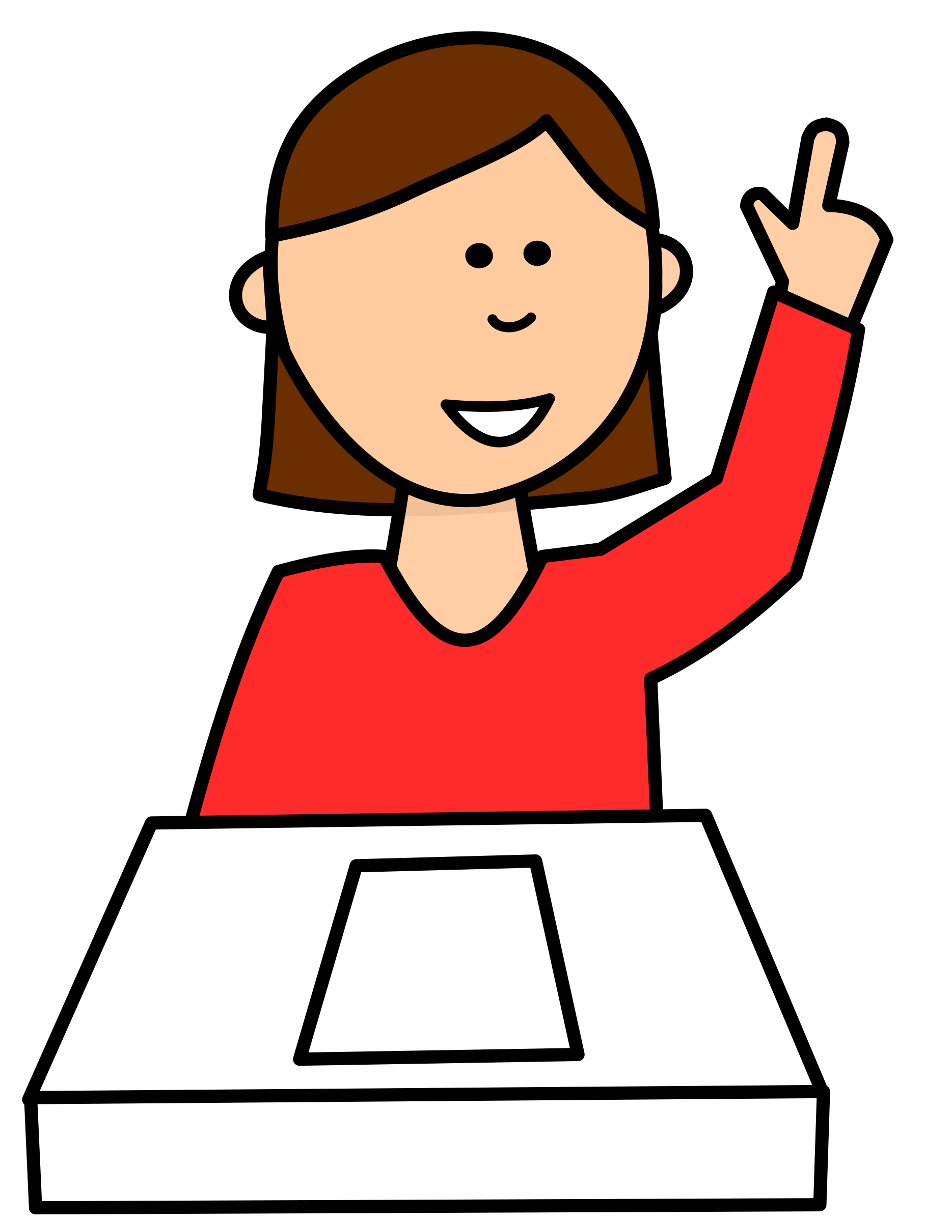Students Asking Questions In The Classroom Clipart.