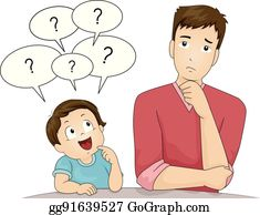 Asking Questions Clip Art.