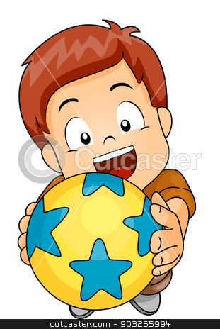 Play Ball stock vector.