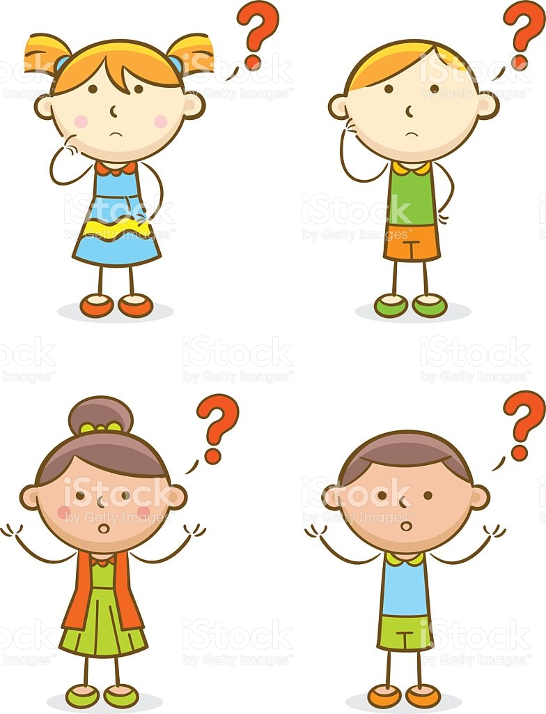 Kid Asking Question Clipart.