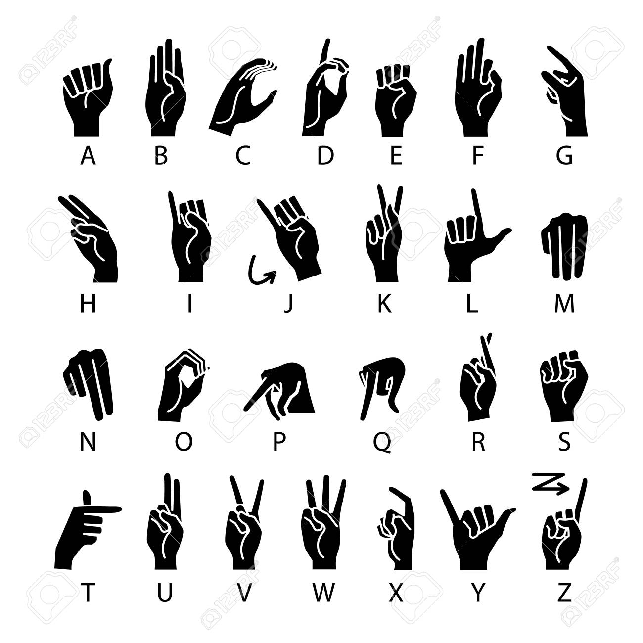vector language of deaf.