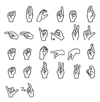 Sign Language Alphabet clip Art.