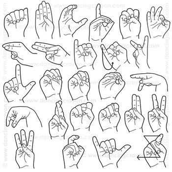 Clip Art American Sign Language.