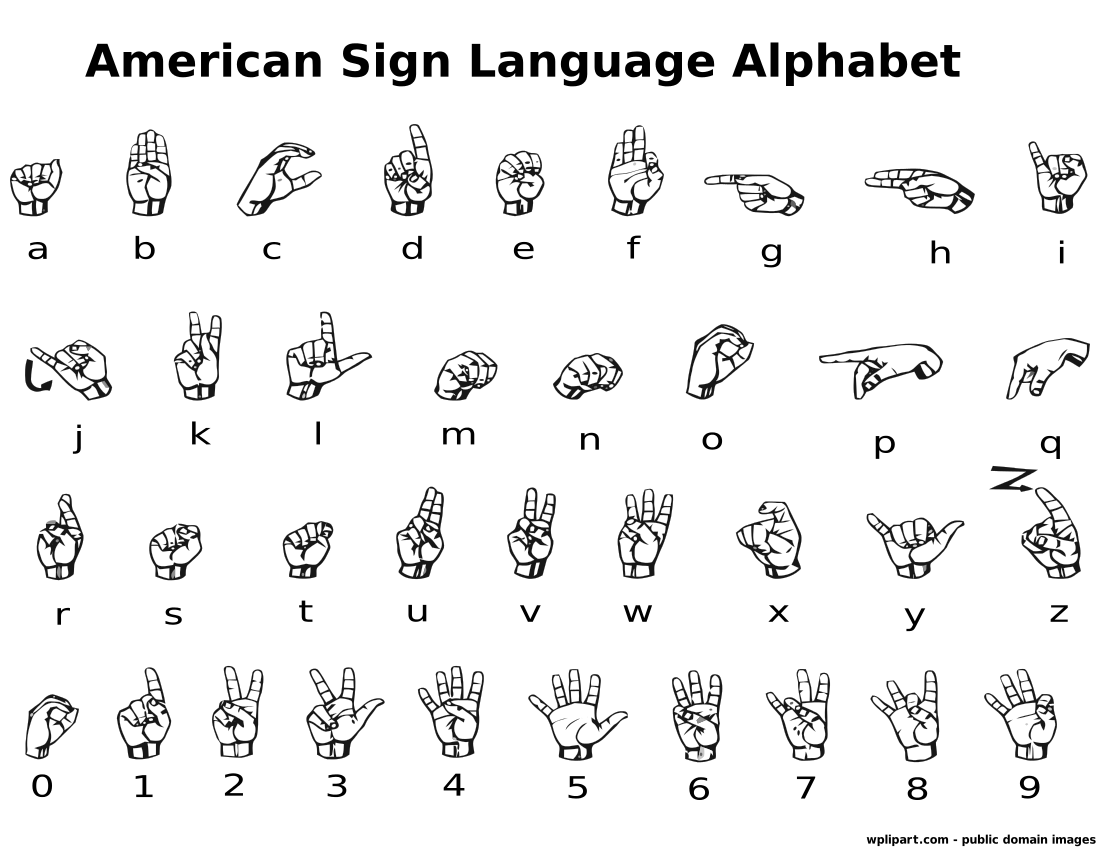 Asl Alphabet Cliparts.