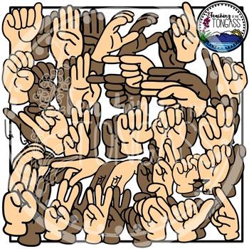ASL Alphabet American Sign Language Clipart.
