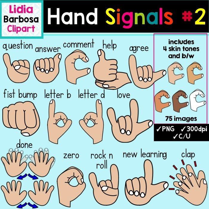 Hand Signals #2 in Multicultural Skin Tones.