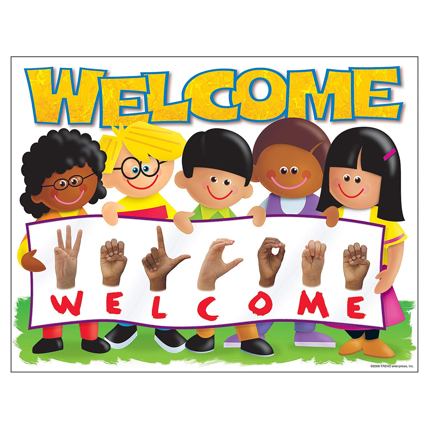 Sign Language WELCOME poster: Amazon.co.uk: Toys & Games.