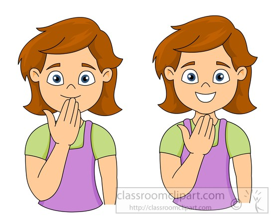 Sign Language Clipart Kids.