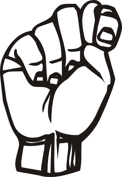 Sign Language T clip art Free vector in Open office drawing svg.