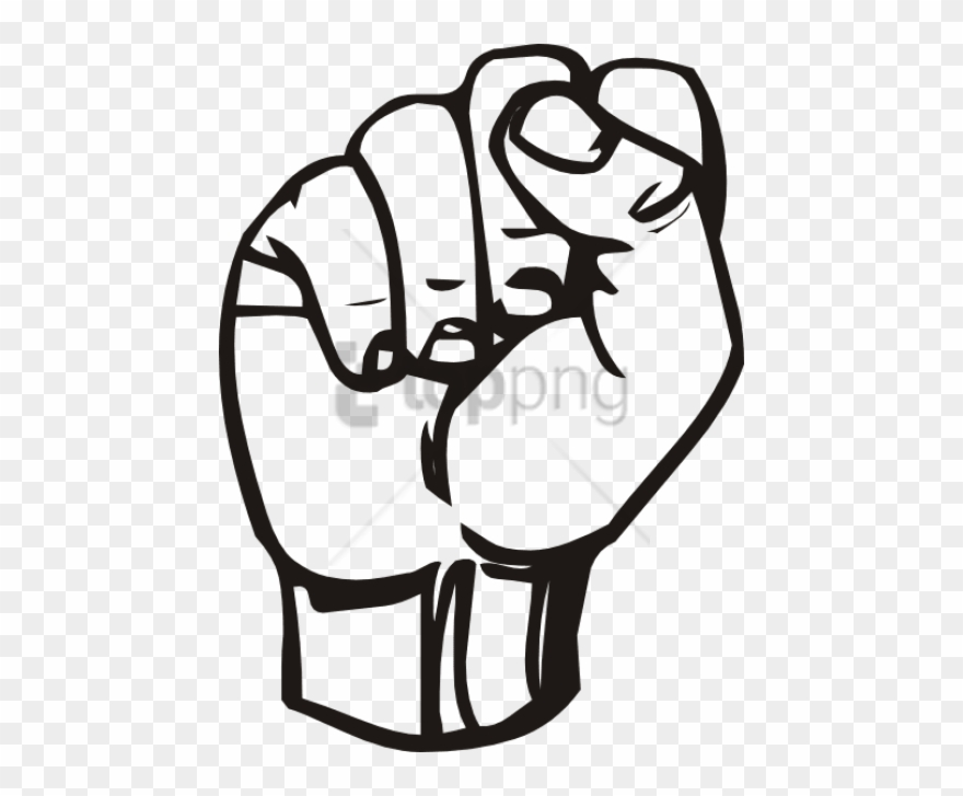Free Png Download Fist Outline Png Images Background.