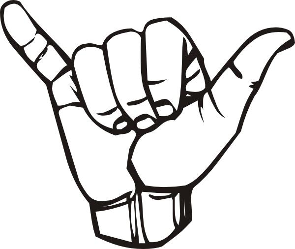 Sign Language Y Hang Loose clip art Free vector in Open office.