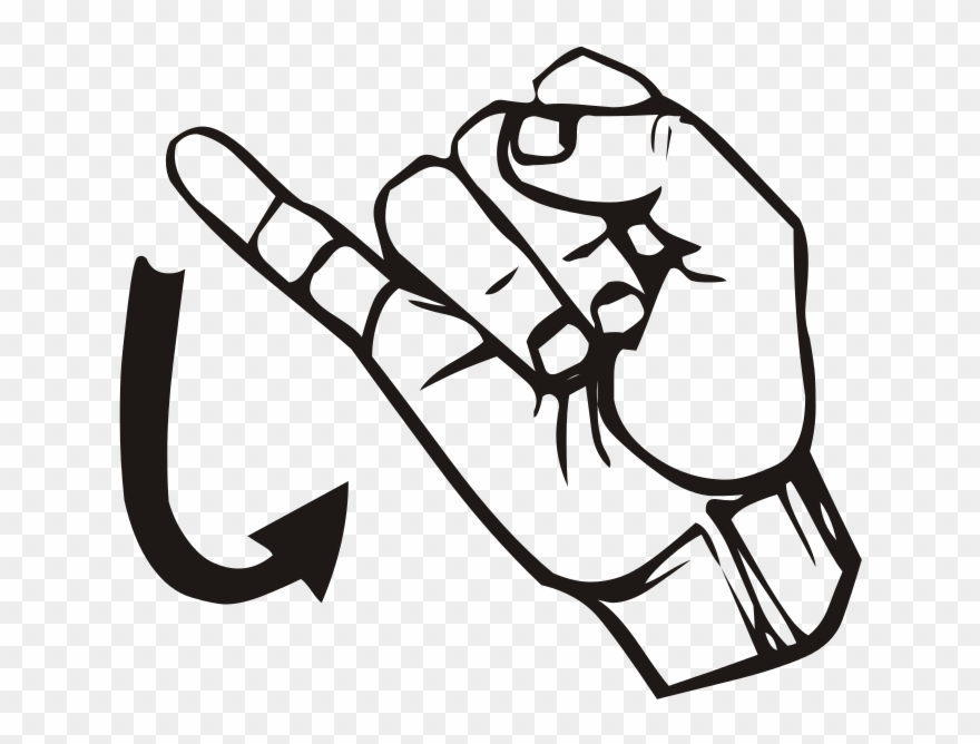 Free Vector Sign Language J Clip Art.
