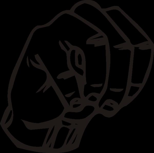 Sign Language M clip art (107861) Free SVG Download / 4 Vector.