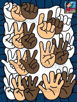 Give me five! This 49 piece hand clipart bundle features.