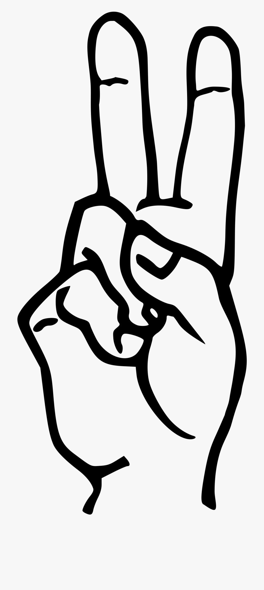 Clip Art Letter D In Sign Language.