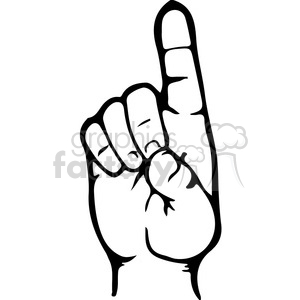 sign language D clipart. Royalty.
