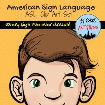 ASL Clip Art Mega Bundle.
