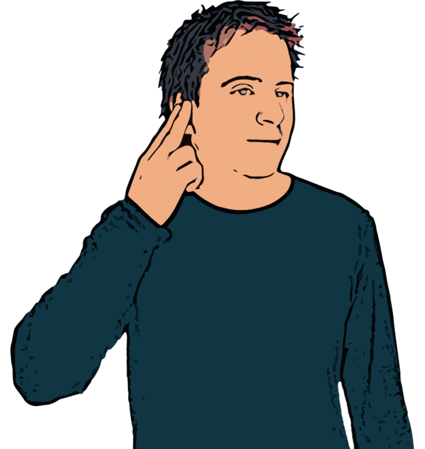 Deaf British Sign Language Dictionary Clipart.