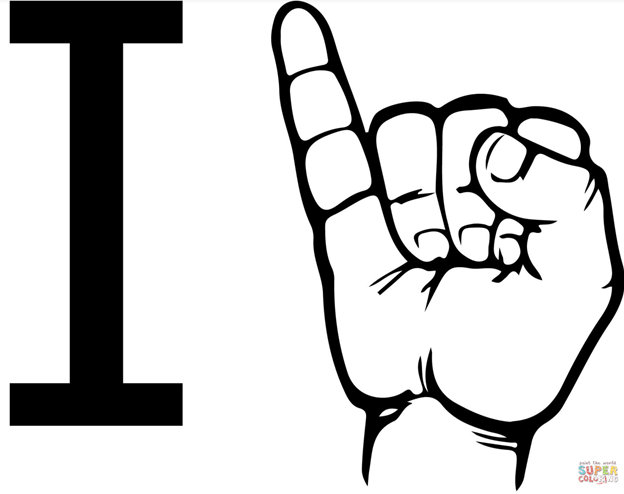What does one pinky up mean in sign language?.