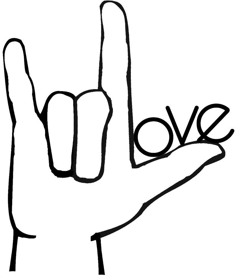 sign language i love you.