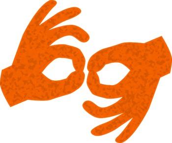 ASL Interpreter Hand Symbols.