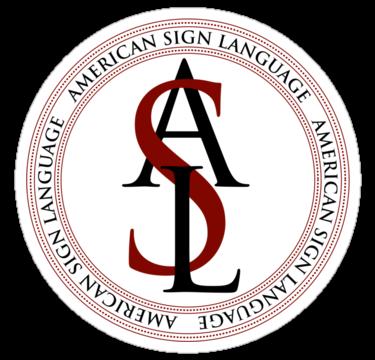 American Sign Language Logo\' Sticker by Zehda.