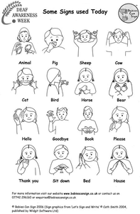 American Sign Language Dictionary Clipart.