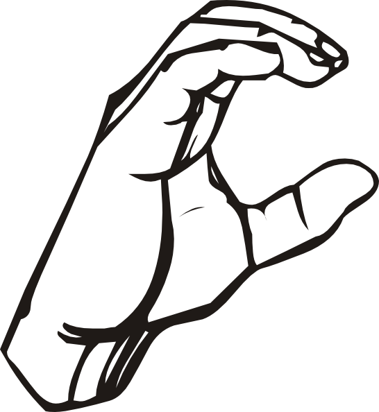 Sign Language Alphabet Clipart.
