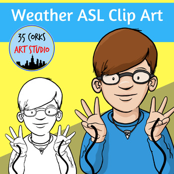 American Sign Language ASL Clip Art Set.
