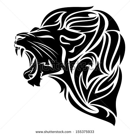 Lion Head Tribal Tattoo Stock Vector 91498226.