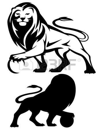 6,544 Lion Silhouette Cliparts, Stock Vector And Royalty Free Lion.