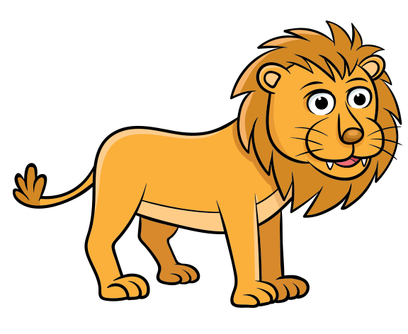 Clipart erkek aslan.