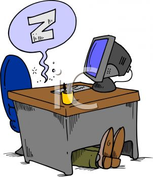 Sleeping at desk clipart 4 » Clipart Station.