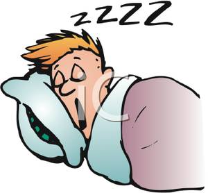 Sleeping In Bed Clipart.