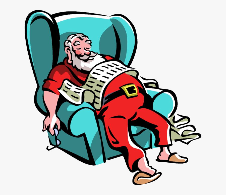 Transparent Santa Sitting Png.