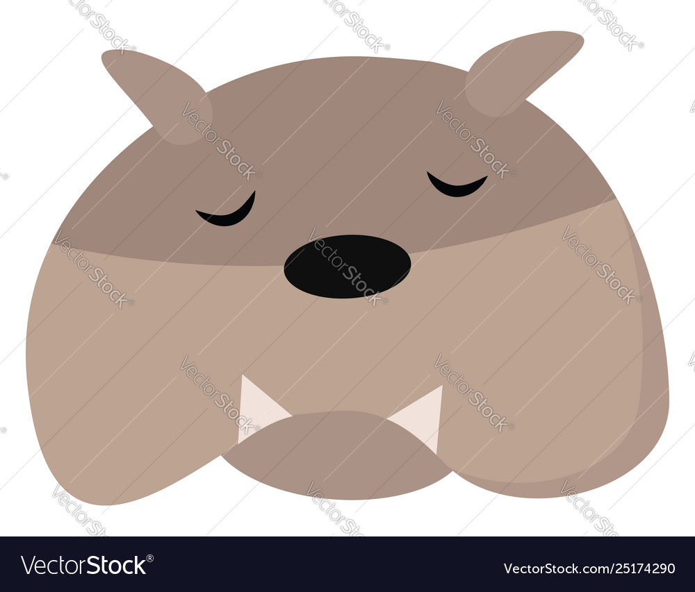 Clipart a cute little sleeping dog or color.
